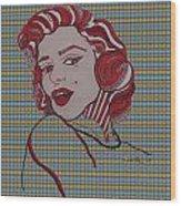 Marilyn Monroe Tartan Wood Print