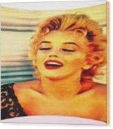 Marilyn Monroe Tribute Silked Curves Wood Print