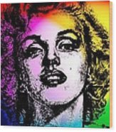 Marilyn Monroe Under Spotlights Wood Print