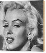 Beautiful Marilyn Monroe Unique Actress Wood Print