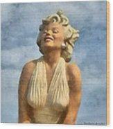 Marilyn Monroe Watercolor Wood Print