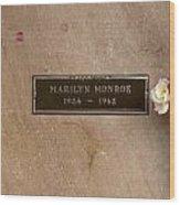 Marilyn Monroe's Grave In Westwood Village Wood Print