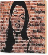 Marilyn On Brick Wood Print