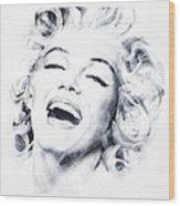 Marilyn 3 Wood Print