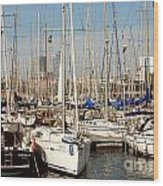 Marina At Port Vell Barcelona Wood Print