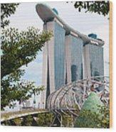 Marina Bay Sands Hotel 02 Wood Print