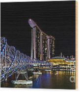 Marina Bay Sands Wood Print by Pete Reynolds