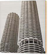 Marina City Chicago Wood Print by Julie Palencia