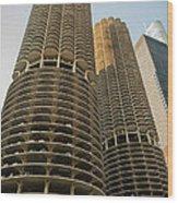 Marina City Chicago Wood Print