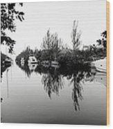Marina Drive Canal Wood Print