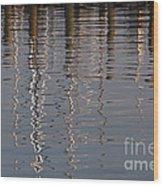 Marina Reflection 3 Wood Print