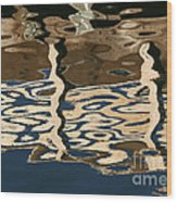 Marina Reflections Wood Print