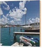 Marina St Thomas Virgin Islands Wood Print