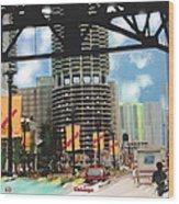 Marina Towers - Chicago Wood Print