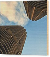 Marina Towers Wood Print