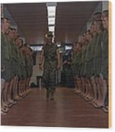 Marine Basic Training Wood Print
