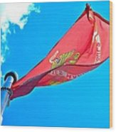 Marine Corps Flag Wood Print