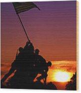 Marine Corps Memorial Wood Print