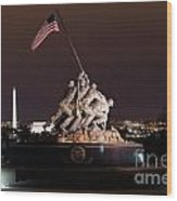 Marine Corps War Memorial Wood Print