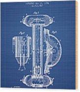 Marine Lifebuoy Patent From 1894 - Blueprint Wood Print