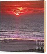 Marine Sunset Wood Print