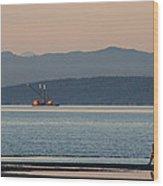 Marine Traffic Wood Print