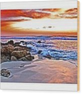 Marineland Sunrise Wood Print