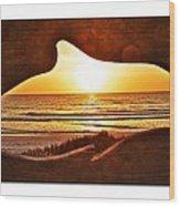 Marineland's Sunrise Dolphin Wood Print