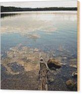 Marion Lake Reflections Wood Print