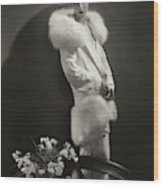Marion Morehouse Wearing An Augustabernard Jacket Wood Print