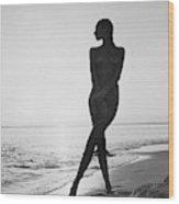 Marisa Berenson At A Beach Wood Print