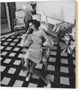 Marisa Berenson Wearing A Forneris Organza Dress Wood Print