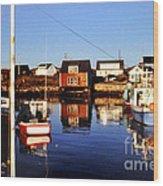 Maritme Shadows And Reflections Wood Print