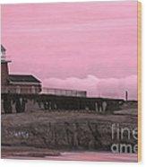 Mark Abbot Memorial Lighthouse In Santa Cruz Ca Wood Print by Paul Topp