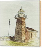 Mark Abbott Lighthouse Santa Cruz California Wood Print