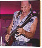 Mark Rocking In Lewiston 2009 Wood Print
