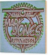 Mark Jones Velo Art Painting Blue Wood Print by Mark Howard Jones