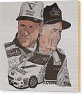 Mark Martin Race Car Driver Wood Print