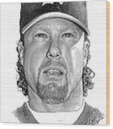 Mark Mcgwire Wood Print
