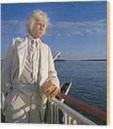 Mark Twain In Mississippi Wood Print