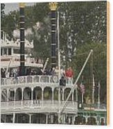 Mark Twain Riverboat Frontierland Disneyland Vertical Wood Print