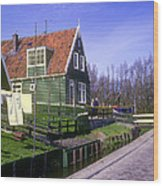 Marken Village Architecture Wood Print