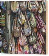 Market Bags 2 Wood Print