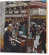 Market Busker 10 Wood Print