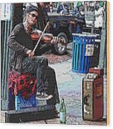 Market Busker 18 Wood Print