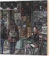 Market Busker 8 Wood Print