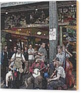 Market Buskers 3 Wood Print