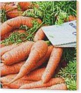 Market Carrots By Diana Sainz Wood Print