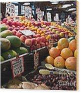 Market Fresh Wood Print