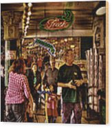 Market Fresh At Pike Place Market Wood Print